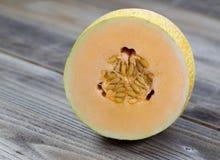 Freshly cut half Melon Royalty Free Stock Photo
