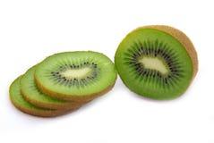 Freshly cut kiwi fruit stock images