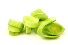 Freshly cut leek Royalty Free Stock Images