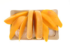 Freshly Cut Mango Royalty Free Stock Image