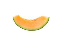 Freshly cut melon on white background Stock Image