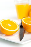Freshly cut oranges Royalty Free Stock Image