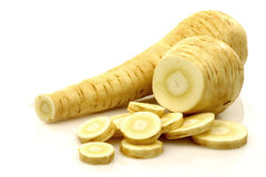 Freshly cut parsnip roots Royalty Free Stock Photo
