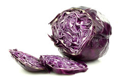 Freshly cut red cabbage Royalty Free Stock Photography