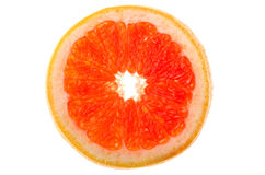 Red grapefruit slice Royalty Free Stock Photography