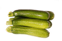 Freshly cut zucchini or courgettes Stock Photos