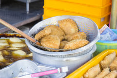 Freshly Deep Fried Curry Puffs Royalty Free Stock Photo
