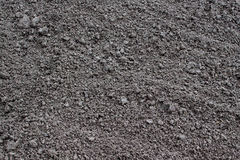 A freshly dug and recently seeded agricultural field Royalty Free Stock Photo