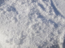 Freshly fallen snow on the ground Royalty Free Stock Photos