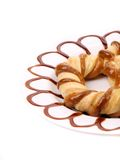 Freshly fancy pretzel baked. Stock Image