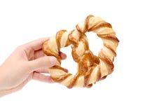 Freshly fancy pretzel baked. Royalty Free Stock Photography
