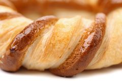 Freshly fancy pretzel baked. Macro. Royalty Free Stock Photo