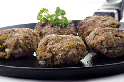 Freshly fried meat balls Royalty Free Stock Images