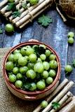Freshly gooseberry Stock Photos