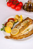 Freshly grilled sole Royalty Free Stock Photos
