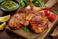 Freshly grilled steaks Stock Photography