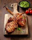 Freshly grilled steaks Royalty Free Stock Image