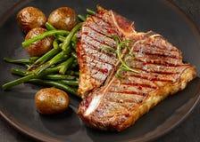 Freshly Grilled T Bone Steak Stock Photo