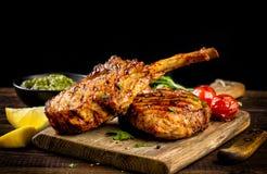 Freshly grilled Tomahawk steak