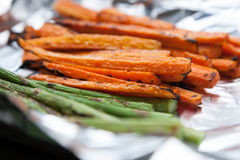 Freshly Grilled Vegetables Carrots Asparagus Royalty Free Stock Images