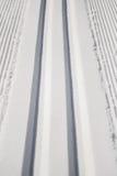 Freshly Groomed Cross Country Ski Tracks Stock Images