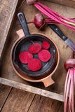 Freshly harvested beetroots royalty free stock photography
