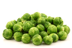 Freshly harvested Brussel sprouts Royalty Free Stock Photos