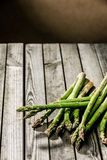 Freshly harvested farm fresh asparagus Stock Photo
