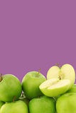 Freshly harvested Granny Smith apples Stock Images