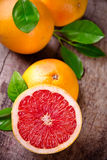 Freshly harvested grapefruit Royalty Free Stock Photo