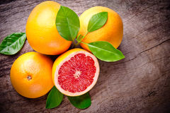 Freshly harvested grapefruit Royalty Free Stock Photography