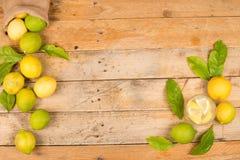 Freshly harvested lemons background Royalty Free Stock Photography
