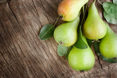 Freshly harvested pears Royalty Free Stock Photo