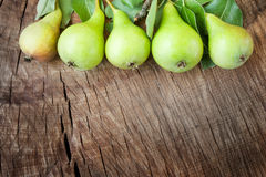 Freshly harvested pears Stock Images