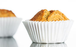 Freshly home baked banana muffin Royalty Free Stock Image