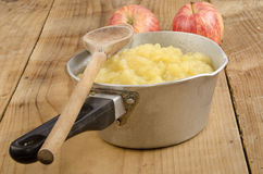 Freshly home made apple compote Stock Photo