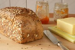 Freshly homemade bread Stock Photography