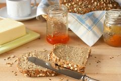 Freshly homemade bread Stock Photo