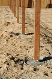 Freshly Installed Fence Posts. Royalty Free Stock Photos