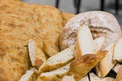 Freshly Italian Bread for catering at a corporate event. Large bowl of freshly Italian Bread for catering at a corporate event gala dinner banquet Royalty Free Stock Photos