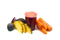 Freshly Juiced Fruit and Vegetables Royalty Free Stock Photography