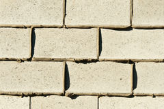Background, brick wall with fresh mortar Royalty Free Stock Images