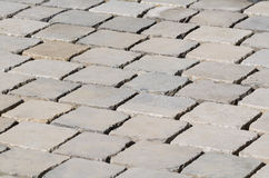 Freshly Laid Cobblestones Stock Photo