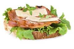 Freshly made bacon sandwich Stock Photos