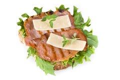 Freshly made bacon sandwich Royalty Free Stock Photos