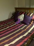 Freshly made bed Royalty Free Stock Photo