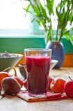 Beet and apple juice Stock Photography
