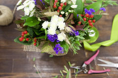 Freshly made bouquet Stock Image