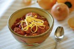 Freshly made bowl of chili. Stock Photo