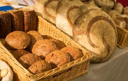Freshly made bread at the market Stock Photo